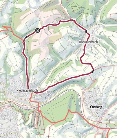 "Karte / Zweibrücken Wanderweg 62 ""Niederauerbach - Oberauerbach"""