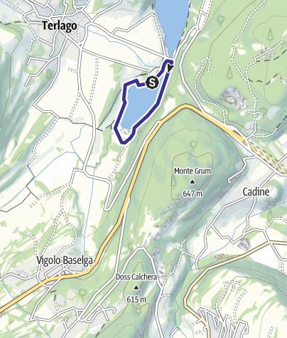 Karte / Lago Terlago piccolo