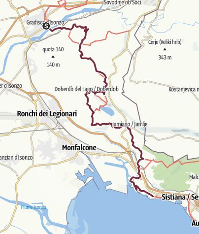 Map / ST33 AAT: Gradisca d'Isonzo - Duino