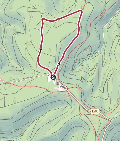 Karte / Waldlehrpfad auf den Taubensuhl
