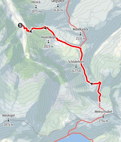 Karte / Hüttschlag: Kreealmen - Murtörl - Schmalzscharte - Schwarzseen