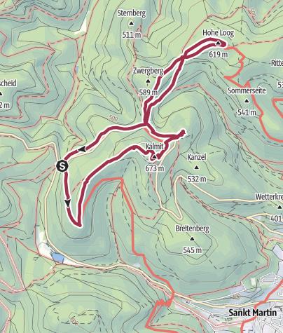 Karte / Felsenmeer, Kalmit und Totenkopfhütte