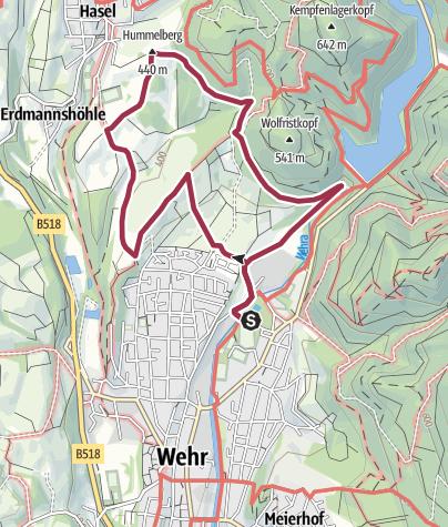 Karte / Wehr: Mittlere Wolfrist Tour