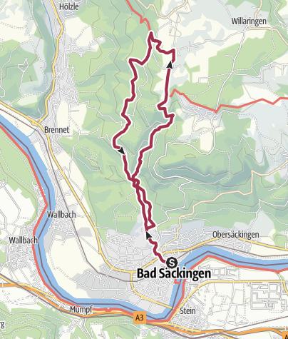 Map / Bad Säckingen: Zum Solfelsen