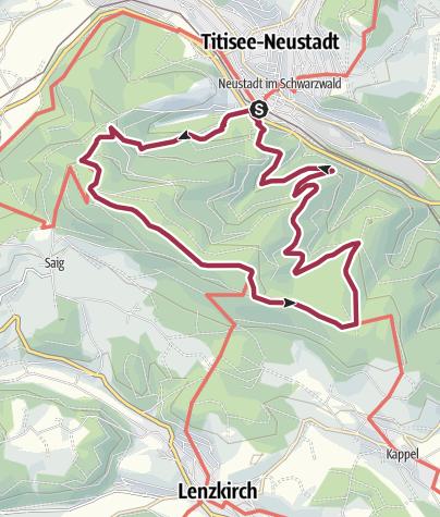 Karte / Die schönsten Aussichten rund um den Hochfirst