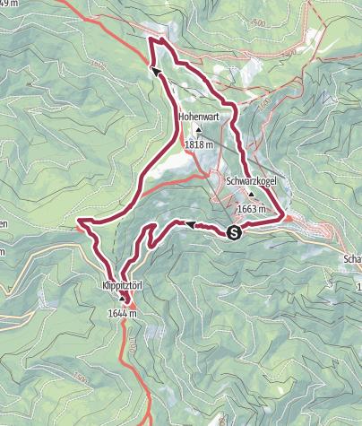 Karte / Klippitztörlrundwanderung