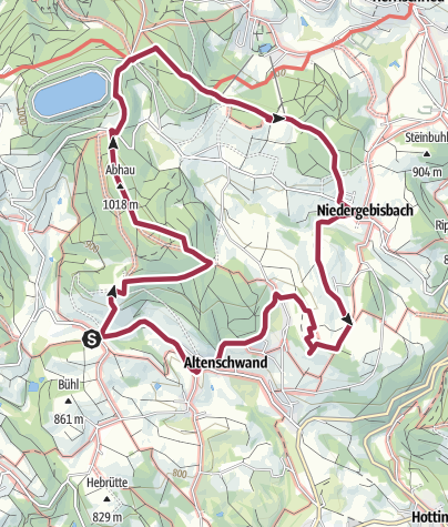 Karte / Rickenbach: Auf stillen Pfaden des Hotzenwald Höhenweges