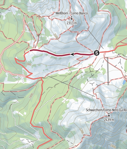 Map / Passo Oclini - Malga Coradin