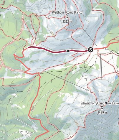 Cartina / Passo Oclini - Malga Coradin