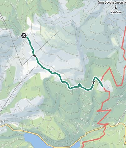 Map / Passo Lusia - Malga Bocche