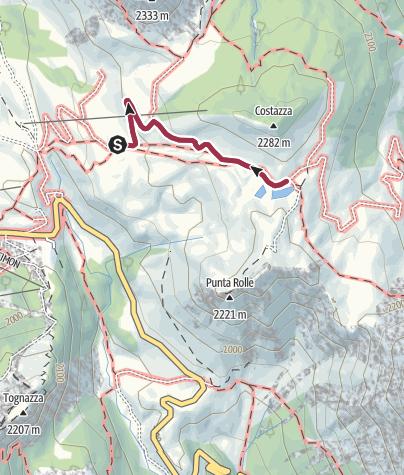 Karte / Capanna Cervino - Rifugio Segantini