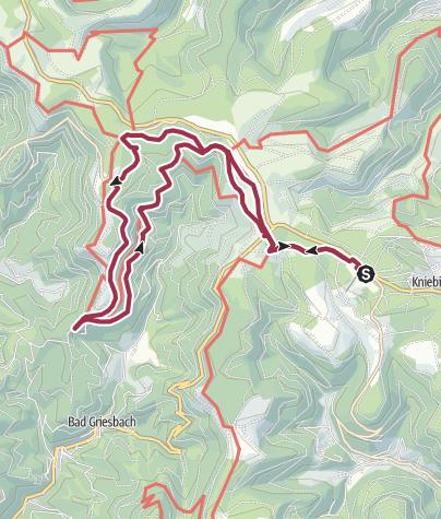 Karte / Vom Kniebis zur Renchtalhütte und zurück