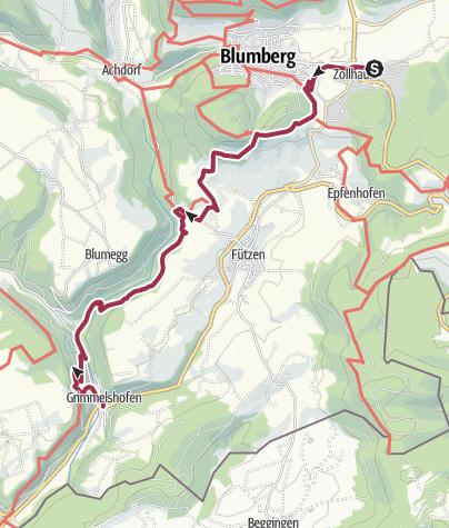 Karte / Genießerpfad - Sauschwänzle  Weg