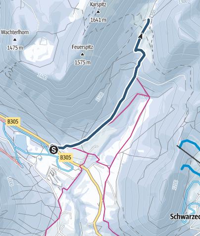 Karte / Auf Skiern zur Mordaualm