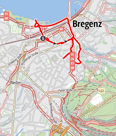 Karte / Bregenz-Tour - Ein Stadtrundgang