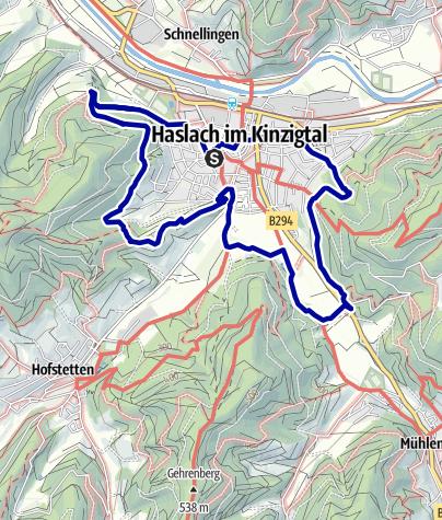 Karte / Haslach - Der Panoramaweg Süd