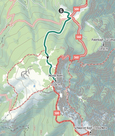 Karte / Monte Roèn