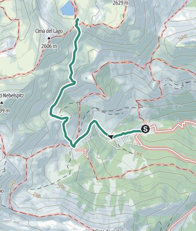 Cartina / Trekking Val di Bresimo – Lago Alplaner