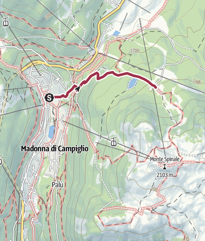 Map / Sentiero dell'imperatrice - malga Montagnoli