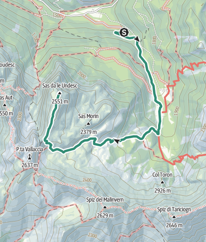 Map / Sasso delle Undici da Val Monzoni