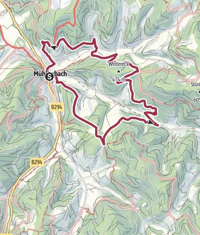 """Karte / """"König der Wanderwege"""" Panoramaweg Mühlenbach / Kleine Runde"""
