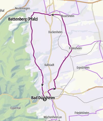Karte / Prachtbauten und Winzerhöfe