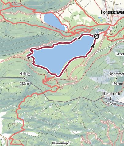 Karte /  Alpseerundweg Hohenschwangau