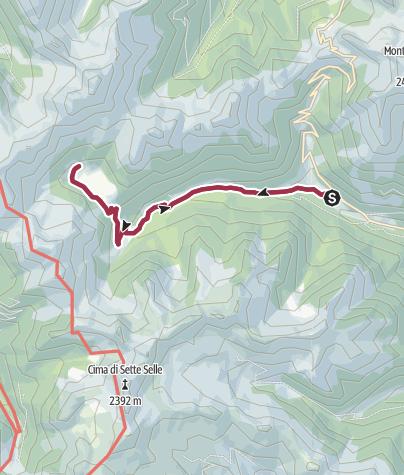 Cartina / Trekking Val Calamento – Malga Cagnon di Sopra