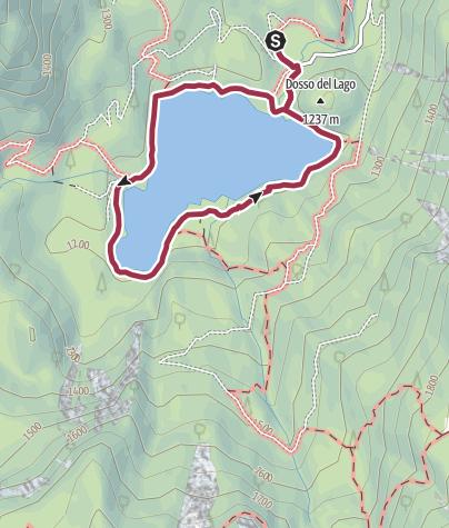 Map / Tour of Lake Tovel