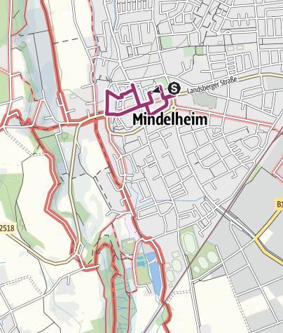 Karte / Rundgang durch die historische Altstadt von Mindelheim