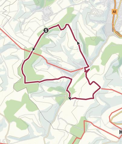 "Karte / Zweibrücken Wanderweg 31 ""Rund um Mittelbach - Hengstbach"""
