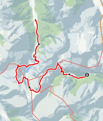 Karte / In zwei Tagen vom Riedingtal zum Jägersee