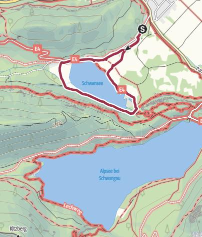 Karte / Rund um den Schwansee / Park
