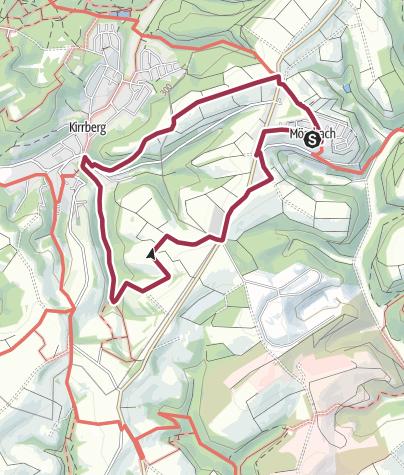 """Karte / Zweibrücken Wanderweg 83 """"Bannsteinhübel - Kirrberg - Tobisberg"""""""