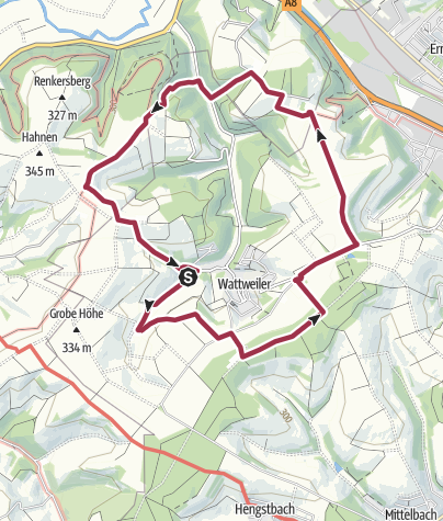 "Karte / Zweibrücken Wanderweg 42 ""Mölschbacherhof - Waldfriedhof - Kettersbergerhof - Buchenwaldhof"""