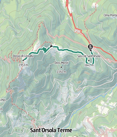 Map / Dosso di Costalta from Passo Redebus