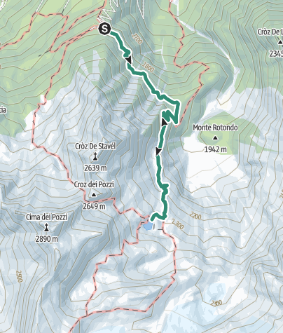 Map / Rifugio Denza - Lake Presanella