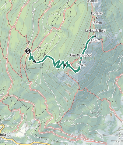 Map / Rifugio Maranza – Cima La Marzola