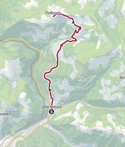 Map / Frantschach-St. Gertraud - Theissenegg