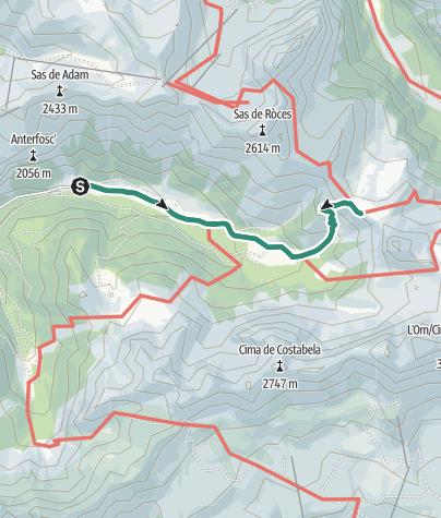 Map / Trek to Rifugio San Nicolò