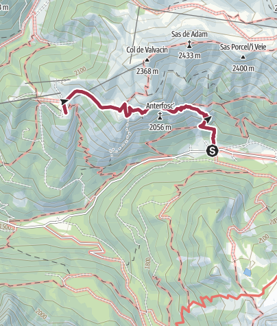 Map / Trek to Baffaure