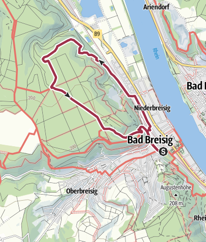 "Map / ""Goldene Meile"" Wanderweg 4, Rundweg Bad Breisig"