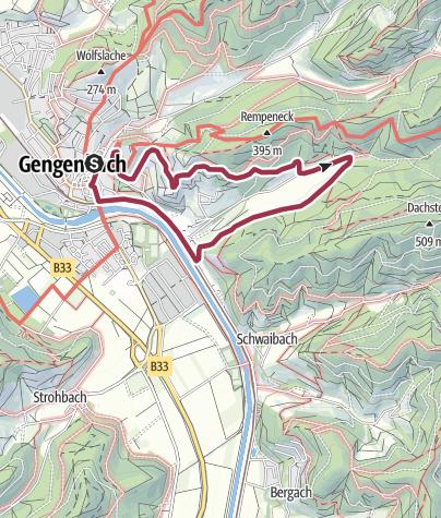 Karte / Gengenbach - Tälerpfad Variante I