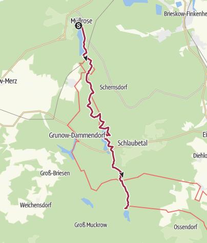 Karte / Schlaubetal-Wanderweg