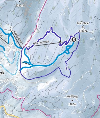 Karte / Rodelbahn Hirscheckblitz Ramsau