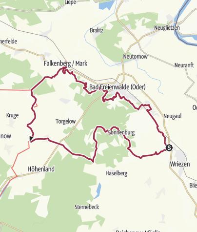 Karte / Oderlandweg