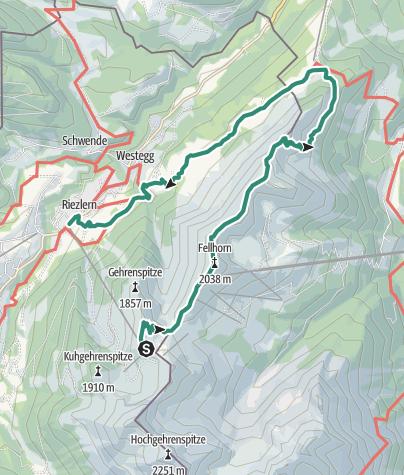 Karte / Von der Kanzelwand über das Söllereck