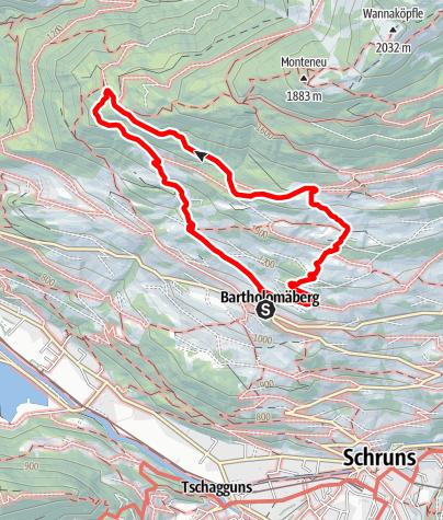 Karte / Übers historische Bergwerk und Fritzensee zum Rellseck