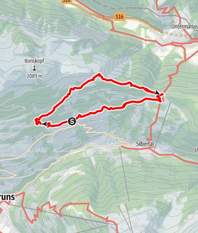 Karte / Höhenwanderung zum Kristberg