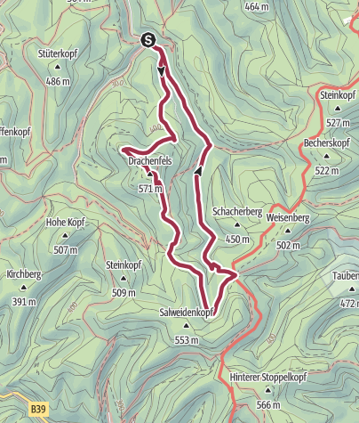 Karte / Bad Dürkheim - Rundwanderung zum Drachenfels